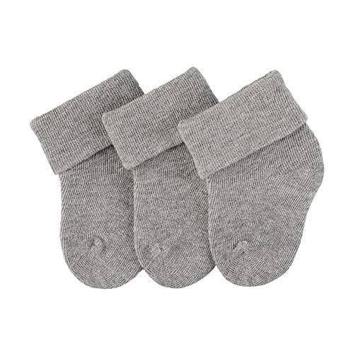 Sterntaler Unisex-Baby Erstlingssöckchen 3er-Pack Socken, Silber Mel, 0