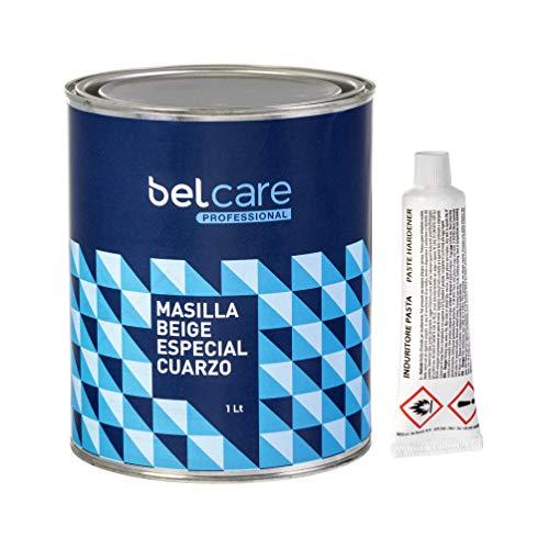 BELCARE - Masilla Beis Reparadora para unir Superficies de Aglomerado de Silestone y Superficies de Cuarzo - Con Catalizador