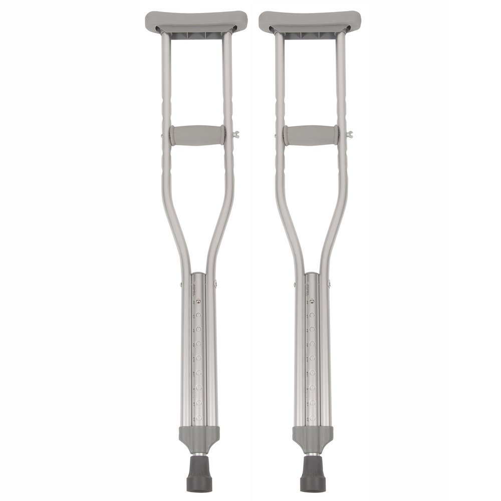 PCP Button Adjustable Height Crutches