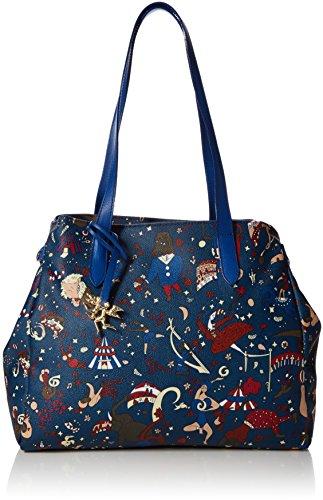 piero guidi 210474038, Borsa Tote Donna, Blu (Bluette), 34x30x17 cm