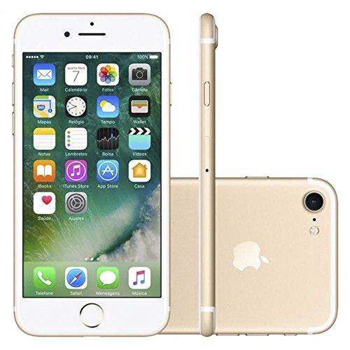iPhone 7 Apple Dourado com Tela de 4,7 , 4G, 32 GB e Câmera de 12 MP