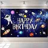 Sfondo del tema dello spazio esterno: lo sfondo del buon compleanno dello spazio esterno è una buona opzione per decorare la tua festa di compleanno a tema dello spazio esterno, puoi anche scattare foto divertenti e condivisibili dei tuoi amici e del...