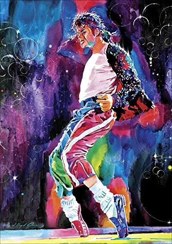 Kit de Pintura de Diamantes 5D para Manualidades Michael Jackson kit de Arte de Punto de Cruz para Adultos con Gemas por Números Lienzo para Alivio del Estrés y Decoración del Hogar 30 x 40 cm