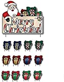 VictoryStore Outdoor Lawn Decorations - Merry Christmas Santa and Presents - Christmas Lawn Display and Yard Card Set - 13 pcs Total
