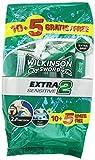 Wilkinson Extra II Sensitive - Máquina desechable, bolsa de 15 unidades