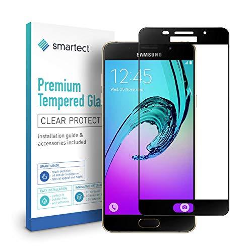 smartect Panzerglas kompatibel mit Samsung Galaxy A3 2016 [Full Screen] - Bildschirmschutz mit 9H Festigkeit - Panzerglas bedeckt ganzes Bildschirm komplett Full Cover