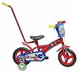 Disney Cars Chrome Vélo Enfant Rouge 10' avec Canne