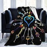 XTGOO Hearts Keyblades Ultra-Soft Fleece Blanket Flannel Velvet Plush Throw Blanket