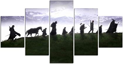 5 panels HD printing painting Lord of the Rings canvas art wall 5 movie poster pictures home decoration printing