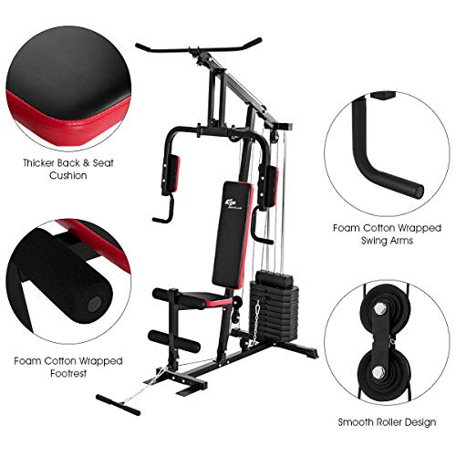 Goplus Multifunction Home Gym System Weight Training Exercise Workout Equipment Fitness Strength Machine for Total Body Training