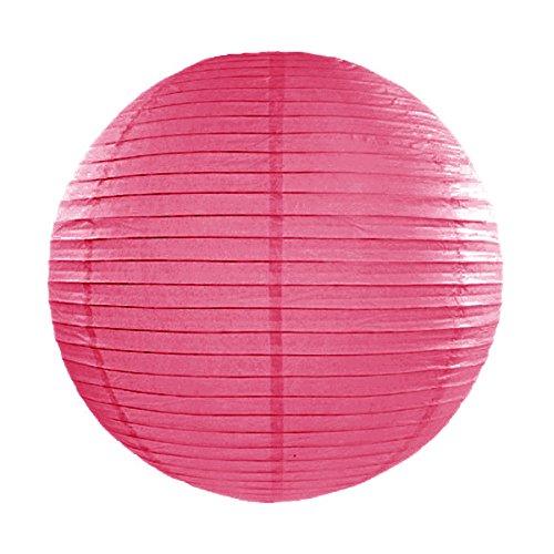Simplydeko Lampion   Papierlaterne   Papier-Laterne   Papierlampion für Party, Garten & Hochzeit   Pink   20 cm