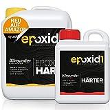 epoxid1® Epoxidharz mit Härter 2,21kg Set   glasklar & blasenfrei   ideal zum Basteln & Gießen...