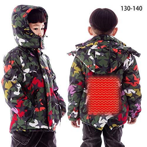 Forwei Gilet riscaldante Elettrico per Gilet riscaldato per Bambini, Abbigliamento Invernale riscaldato con Gilet Caldo Elettrico USB 5V, Calore Invernale...