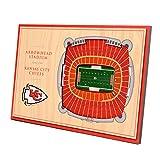 YouTheFan NFL Kansas City Chiefs Unisex Kansas City ChiefsDesktop Stadium View, Wood Grain, Desktop