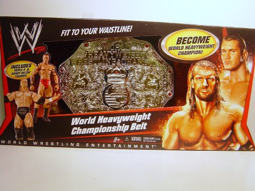 Original WWE Toy Belt World Heavyweight Champion Gürtel mit Figur Triple H & Randy Orton