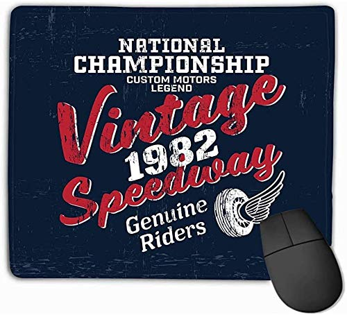 N/A Mouse Pad Typography Vintage Motor Brand Logo Print Retro Artwork Outfit Rectangle Rubber Mousepad 25 * 30Cm