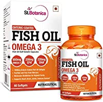 StBotanica Fish Oil 1000mg Advanced Double Strength 650mg Omega 3 with 330mg EPA, 220mg DHA - 60 Enteric Coated Softgels