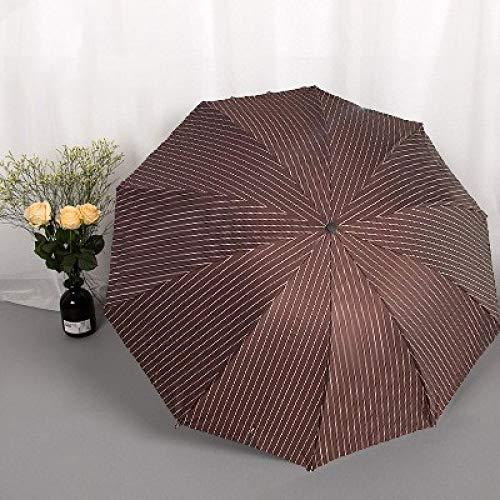 GYHJG Regenschirm Ten Bones Double Erhöhen Sie Den Retro-Streifenregenschirm Und Den Uv-Sonnenschutzregenschirm Aus Zweifachem Vinyl