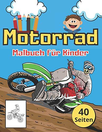 Motorrad Malbuch für Kinder: Tolles Buch für Kleine Kinder mit Motorrädern. Die Perfekte idee für Ein Weihnachtsgeschenk.