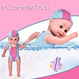 Water Baby Doll, Electric Inductive Waterproof Swimming Baby Dolls Water Toys for Swimming Pool Beach