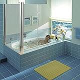 Melko® Duschabtrennung Badewannenaufsatz aus 5 mm ESG Sicherheitsglas
