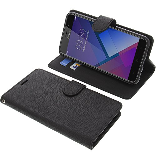 foto-kontor Tasche für TP-Link Neffos C7 Book Style schwarz Schutz Hülle Buch