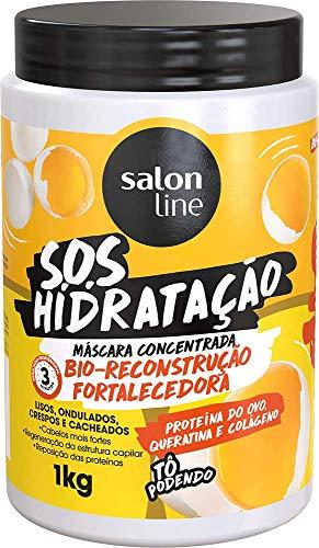 Mascara S.O.S Hidratação Bio-Reconstrução Fortalecedora, 1kg, Salon Line, Salon Line, Branco