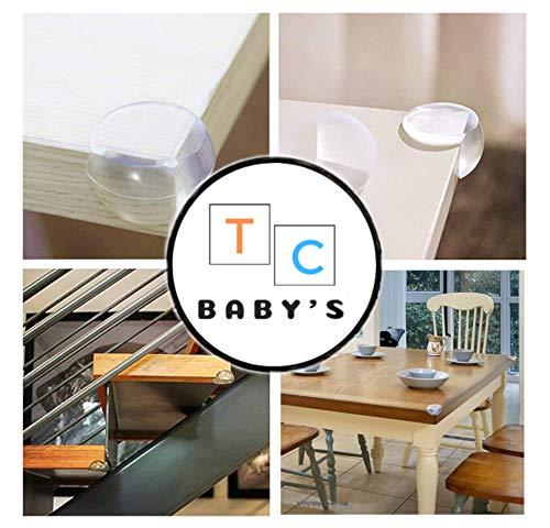 25 piezas Protectores de esquinas para ni/ños Tc Babys Protecciones universales a prueba de golpes para esquinas Seguridad en el hogar para ni/ños en goma suave y transparente.