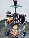 ADAL Premium Shisha Tisch | Komplett Set inkl. LED Untersetzer + Werkzeuge | Praktisch für Zuhause...