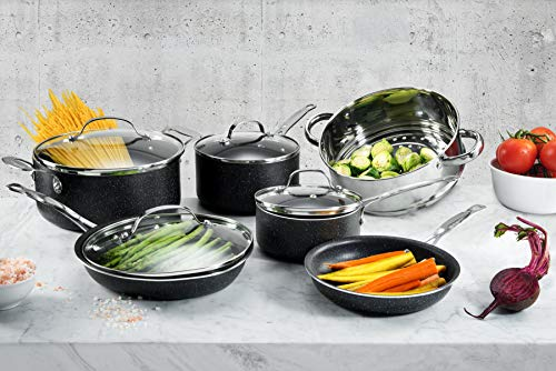 Granitestone 2609 Cookware, Pots and Pans, Knife Set, Scratch-Resistant, Nonstick Granite-coated, PFOA-Free As Seen On TV (24 Piece Set)