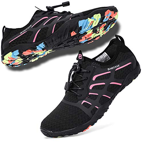 HIITAVE Water Shoes for Women, Ladies Aqua Beach Swimming ...