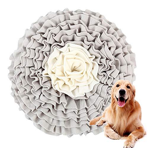 N/T Schnüffeln Teppich Teppich Hund Lernspielzeug, Hochwertige Handgewebte Decke Trainings- und Fütterungsmatte, Waschbare und Faltbare Geruch rutschfeste Hundespielzeug (50 * 50cm)