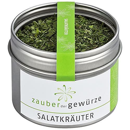 Zauber der Gewürze Salatkräuter - Gewürzmischung für Dressing, Kräuter-Mix für Salat, Top-Qualität in wiederverschließbarer Aroma-Dose, 25 g