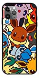 GIDUN Phone Case Compatible with iPhone 12 11 X Xs Xr 8 7 6 6s Plus Mini Pro Max Cute Pokemon Go Cards Legends Arceus Eevee Evolution 3D Stuffed Animals Pure Clear Cases Cover Full Body