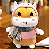 N / A Cute Little Hamster Doll Scarf Mouse Plush Toy Turned into a Dinosaur Doll Doll Child Sleeping...