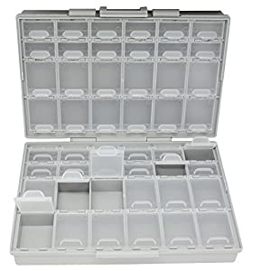 AideTek BOXALL48 48 Lids Empty Enclosure SMD SMT Organizer Size 6 inch 9 Inch Surface Mount