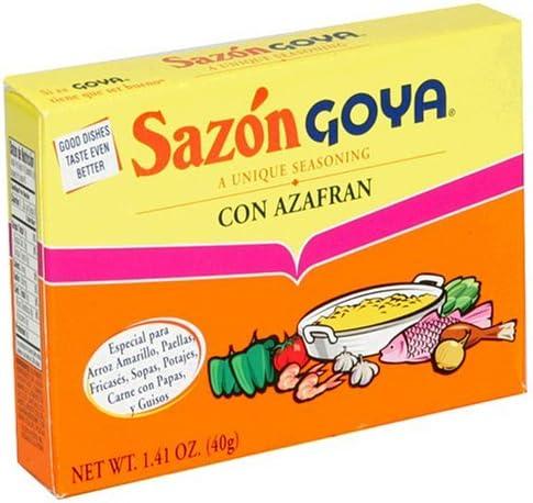 Sazon Goya Con Azafran Seasoning 40g Box