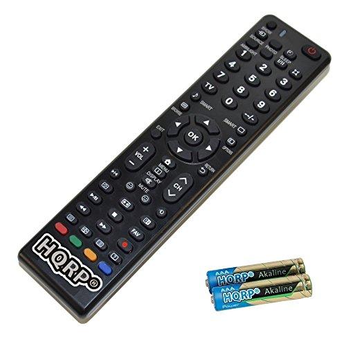 HQRP Universale Fernbedienung kompatibel mit Philips LED-Fernseher; 8000er 65PUS8901/12, 65PUS8700/12, 65PUS8601/12, 55PUS8700/12, 55PUS8601/12 Fernseher