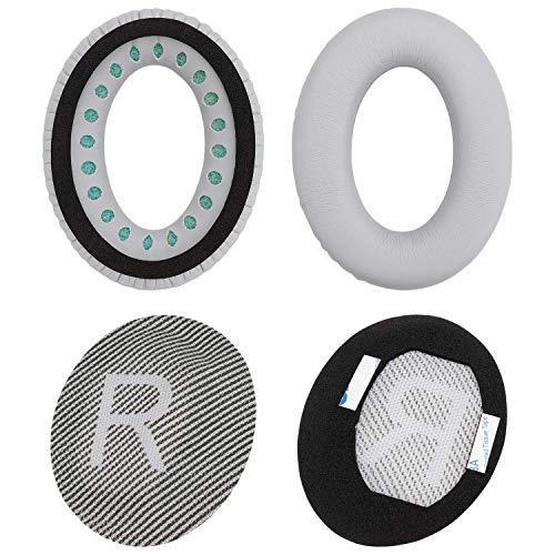 Almohadillas de repuesto para auriculares SiletComfort 35 QC35 SoundTrue, SoundLink auriculares (plata)