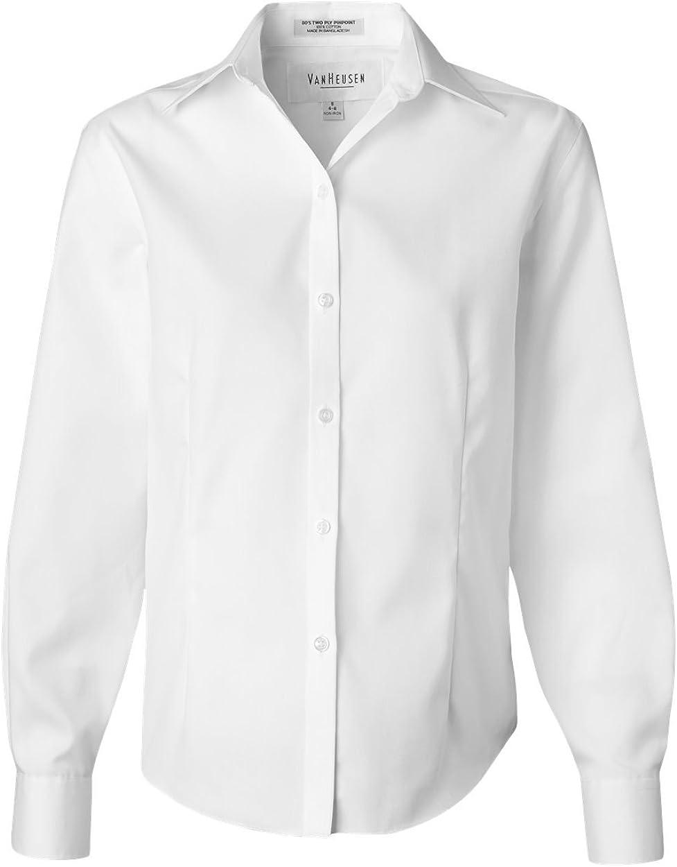 Van Heusen Women's Wrinkle Free Spread Collar Oxford Shirt