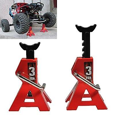 MOHERO Metal Jack Stands Repairing Tool for 1/10 Axial SCX10 TRX4 D90 CC01 RC Truck Crawlers Pack of 2