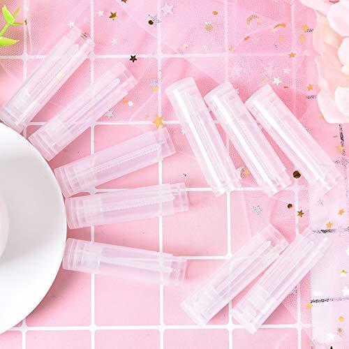 Coner 20 stks lege lippenstift fles lipgloss tube lippenbalsem tube container met dop helder zwart wit cosmetische monster container 5 ml, helder, 5 ml
