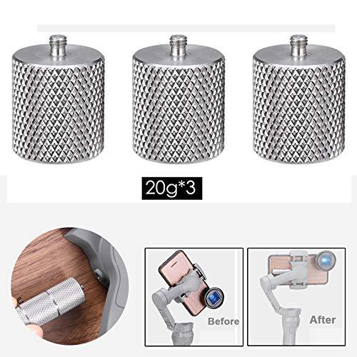 Flycoo2 ULANZI Gegengewicht für DJI Osmo Mobile 3 Stabilisator Balance Zubehör 20 g × 3 Stück