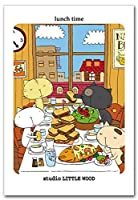 しろねこBON ポストカード lunchtime 猫の絵葉書