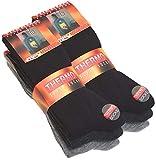VCA 6 paia di calzini completamente termico da uomo nero, antracite e grigio