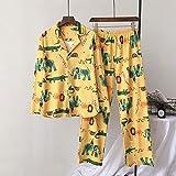 MDHDSY Women Pajamas Sets 100% Cotton Nightwear Long Sleeve Pyjamas Sleepwear Female M Elephant