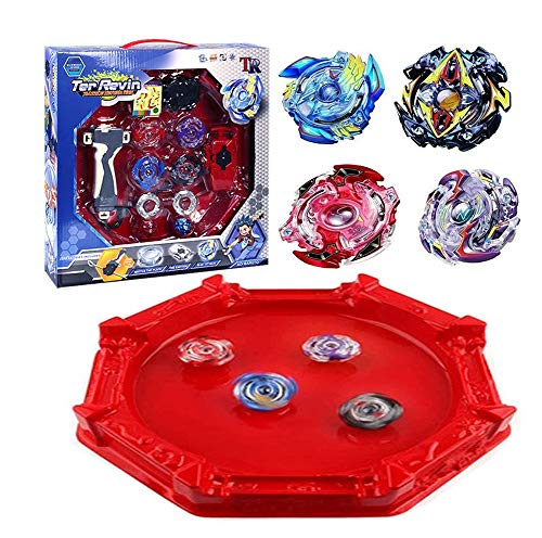 Bey Battle Blade Gyro Metal Fusion Evolution Attack Set with 4D Launcher Grip and Stadium Battle Set