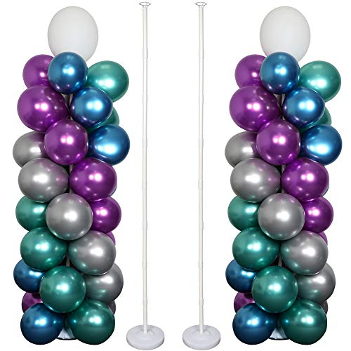 OurWarm Balloon Column Kit 63 Inch, Balloon Arch Kit Base Stand and Pole and Balloon Garland Kit 36pcs Balloon Rings, Balloon Tower Decorations for Wedding Birthday Baby Shower Graduation