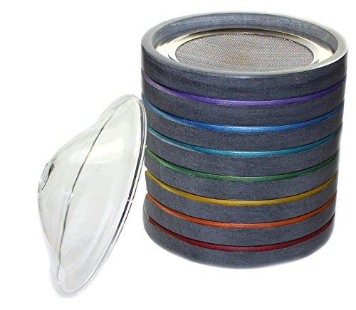 budawi® - Duftstövchen Aromalampe mit Edelstahl-Sieb, Räucherstövchen Räucher-gefäß aus Speckstein, Duftlampe (Chakra Lage) Duftlampe