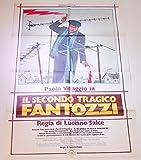 MANIFESTO ORIGINALE 140 X 100 CM DA COLLEZIONE PAOLO VILLAGGIO - SECONDO TRAGICO FANTOZZI - FRACCHIA LA BELVA UMANA - IL TERRIBILE ISPETTORE - QUELLE STRANE OCCASIONI